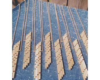 Large Vertical Beta Bar Necklace