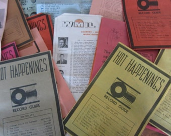 Vintage 1960's Music and Record Ephemera Record Guides Beatles Rolling Stones Supremes