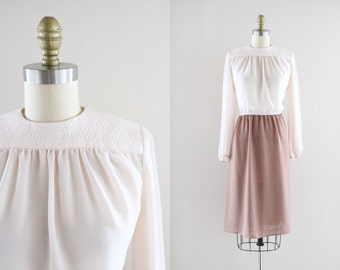 1970's sheer blush dress