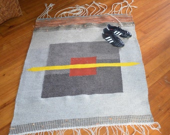 Hand Woven Rug/Wall hanging  'I screwed Up'