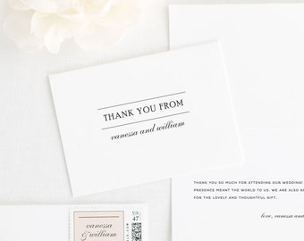 Simple Elegance Thank You Cards