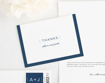 Sophisticated Modern Thank You Cards