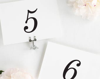 Classic Romance Table Numbers - 5x7""