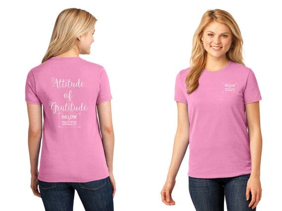 Below the Mason Dixon Apparel T-Shirt Fashion T-Shirt Attitude of Gratitude 100% Cotton Relaxed Fit Womens T-Shirt