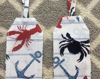 Lobster crab luggage tag, travel, sea, destination wedding, gifts, seaside