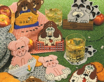 Critter Coasters Plastic Canvas Book American School of Needlework by Sue Penrod