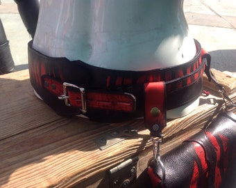 Leather hip belt and pouch