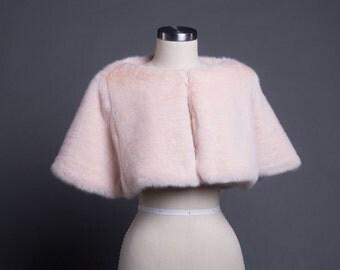 Pale Pink Fur Caplet