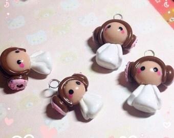 Princess Leia Inspired Donut Buns Polymer Clay Charm