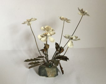 Vintage 1970's Metal Flower Sculpture