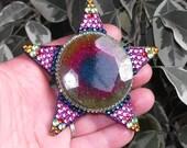 Rainbow solar quartz, JUMBO shining star, natural gemstone, rainbow, magical, fairy, dance, Goddess