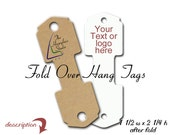 Fold Over Hang Tags, Necklace tags, Bracelet Display, Hair Tie Holder, Hang Tag, Custom Cards and Tags
