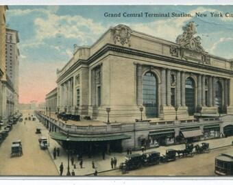 Grand Central Terminal Station New York City NY 1918 postcard