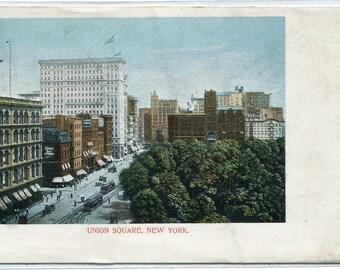 Union Square New York City NY 1907c postcard