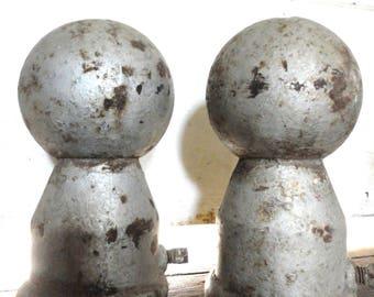 Salvaged Iron Post Tops