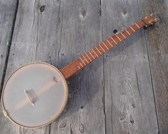 "Cherry 5-String Banjo, 11"" open back with brass hardware, Zachary Hoyt #37"