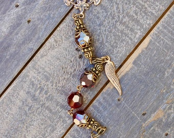 Garnet Swarovski Crystal One Decade Rosary