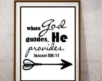 Christian Print Encouragement Print Scripture Print Isaiah 58:11 Digital Photo Printable File   5x7, 8x10, 11x14, 16x20   Instant Download