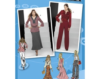 Sz 12/14/16/18/20 - Simplicity Separates Pattern 1718 - Misses' Tunic with Variations, Pants & Trumpet Skirt - Project Runway Pattern