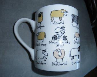 Vintage Tyrrell Katz Sheep Mug, McLaggan Smith Mug
