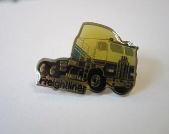 vintage FREIGHTLINER pin - lapel pin, hat pin, tack pin - advertising pin
