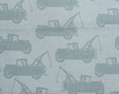 Tow truck Fabric- Yardage- fabric by the yard- cotton fabric- quilting fabric- kids fabric- quilting cotton fabric by yard- Michael Miller