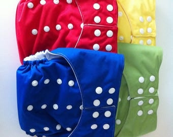One size Cloth Diapers - snaps