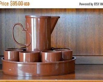SALE 25% OFF vintage DANSK brown beverage set by gunnar cyren