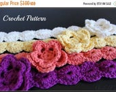 ON SALE CROCHET Pattern - Crochet Flower Headband Pattern, Flower Pattern, Girl's Headband Tutorial, Hair Accessories