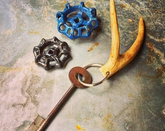 """Deer Antler Key Chain / Approx. 6"""""""