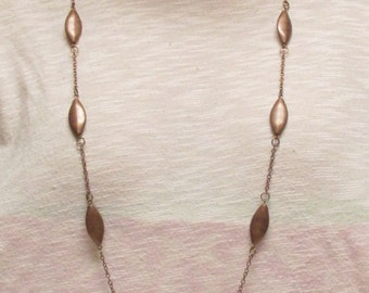 "36"" Brown Jasper and Copper Necklace Set"