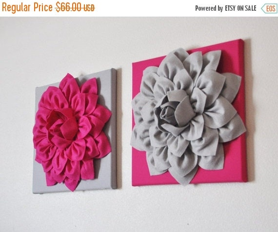 black friday sale two pink and gray wall art decor by bedbuggs