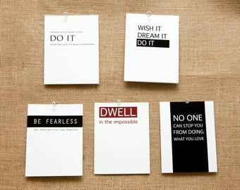 WHOLESALE/BULK Packs 50, 100, 150, 200+ of Encouragement Cards Inspirational Dwell in the Impossible Be Fearless Do it No One can Stop You
