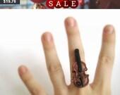 Violin Ring - Music Ring - Violin Jewelry - Violin Gifts - Music Teacher Gift - Music Jewelry - Music Accessories - Musical Instrument
