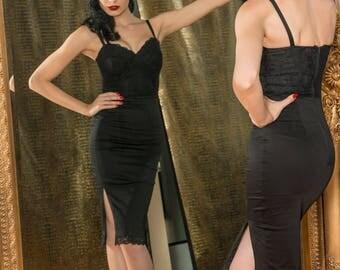 Vixen Black Lace Wiggle Dress