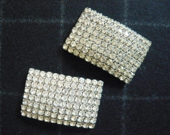 VINTAGE RHINESTONE CLIPS shoe clips