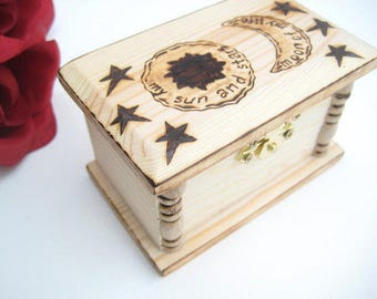 Ring Box Game of Thrones Wedding, My Sun and Stars Moon of my Life, Khal and Kaleesi, Jewelry Box Rustic, Game of Thrones Box, Ring Box Wood