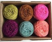 MERINO Singles Mini Balls Set No. 12 - 100% Virgin Wool superwash (Merino) 6x20g/yardage 438m/474yards