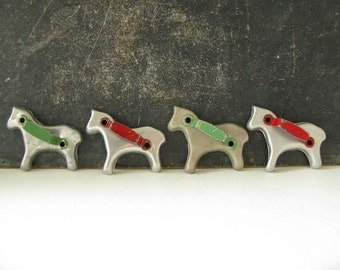 Vintage Horse Cookie Cutters Painted, Christmas decor
