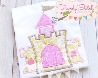 Castle Applique Design Machine Embroidery Design INSTANT DOWNLOAD Princess Castle