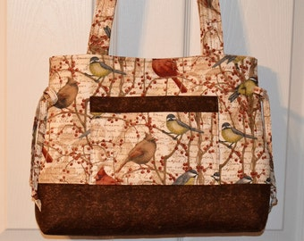 Quilted Bag Quilted Purse Quilted Bow Bag Handbag Tote Bag by Quilted Creations By Me