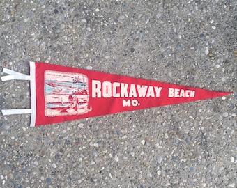 Vintage Ozarks Pennant - Rockaway Beach Missouri