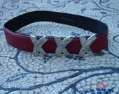 Vintage Paloma Picasso Ladies Silver XXX Leather Belt - Made in Italy - Unique Color