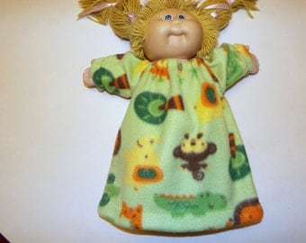Fleece Nightgown To Fit Cabbage Patch Doll