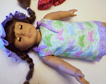 6 Pieces Dress, Hat, Blouse, Jeans, Camisole and Underwear To Fit American Girl Doll