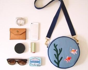 Fish Bowl Purse (Shoulder bag with detachable strap)/ Women's Handbag