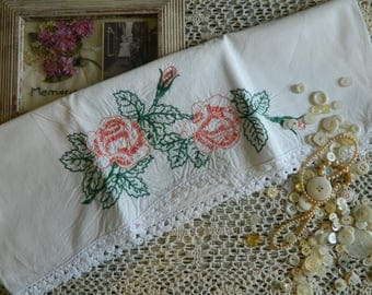 Sweet Embroidered Pillowcase #127
