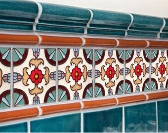 Spanish tile etsy for Spanish decorative tile