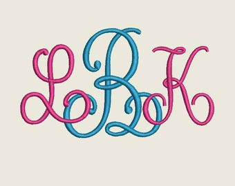 Single Letter Embroidery Machine Monogram  Alphabet  Font Set 1002 - 12 Sizes