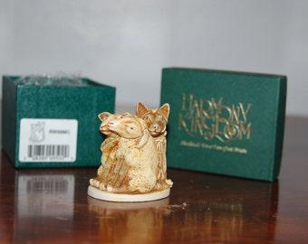 """Harmony Kingdom """" Mutton Chops"""" Based on The Aesop Fable """" Wolf in Sheep's Clothing"""" Retired w/ Box & COA ~ Excellent Condition"""